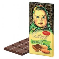 Молочный шоколад с миндалем...