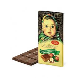 Молочный шоколад с фундуком...